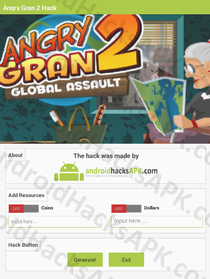 Angry Gran 2 Hack APK Coins and Dollars