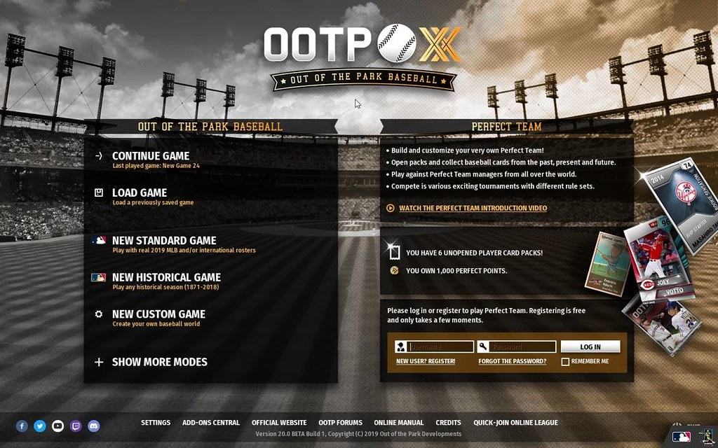 Out of the Park Baseball 20.0 MAC Formally licensed by MLB, MiLB and the MLBPA, OOTP 20 is a baseball fan's dream come true and the solely sport ever to win the Metacritic PC Sport of the 12 months Award twice. Step into the sneakers of a GM and/or supervisor to personal the future or rewrite the previous of your favourite real-world baseball franchise. Construct the group the means you need. Begin a brand new profession together with your favourite 2019 MLB group or return by way of virtually 150 years of baseball historical past and run any group from the previous! You may even arrange your individual fictional baseball universe.